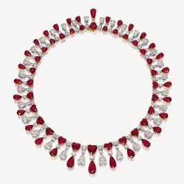 Magnificent burmese ruby and diamond necklace 2