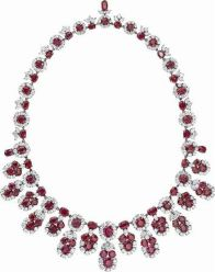 Magnificent burmese ruby and diamond necklace 23