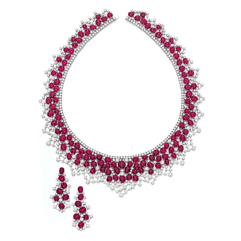 Magnificent burmese ruby and diamond necklace 3