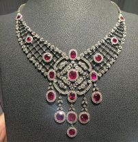 Magnificent burmese ruby and diamond necklace 31