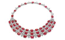 Magnificent burmese ruby and diamond necklace 33