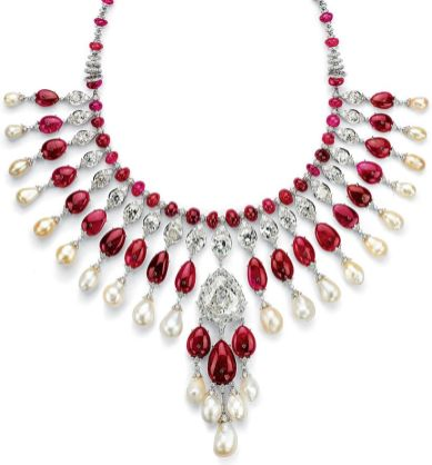 Magnificent burmese ruby and diamond necklace 37