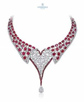Magnificent burmese ruby and diamond necklace 5