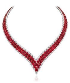 Magnificent burmese ruby and diamond necklace 6