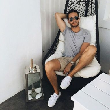 Mens summer casual short outfits worth to copy 35