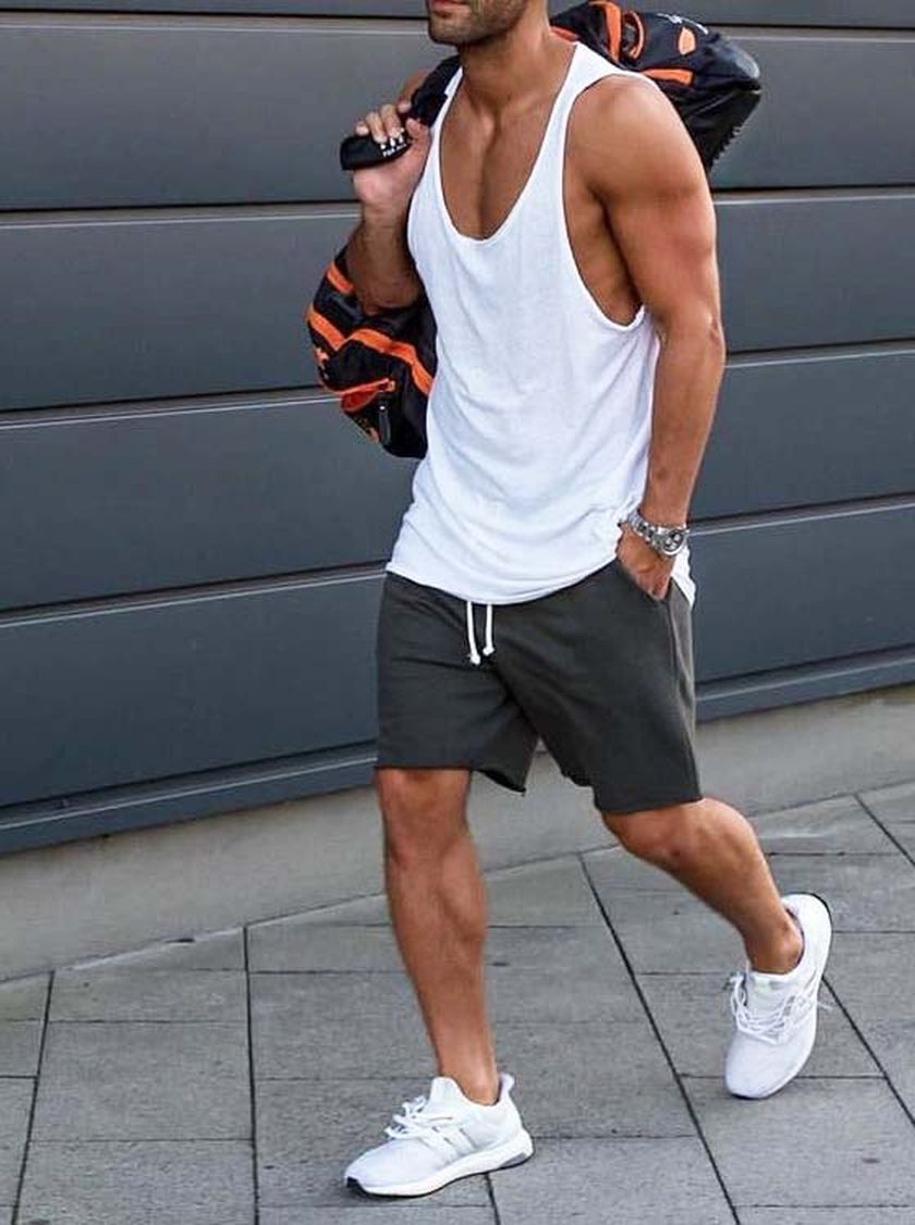 Mens summer casual short outfits worth to copy 4