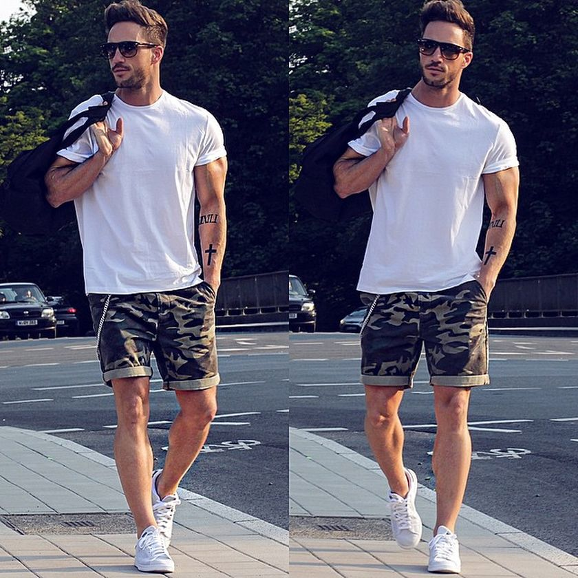 Mens summer casual short outfits worth to copy 63