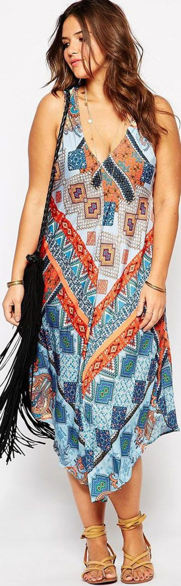 Plus size boho outfit style 23