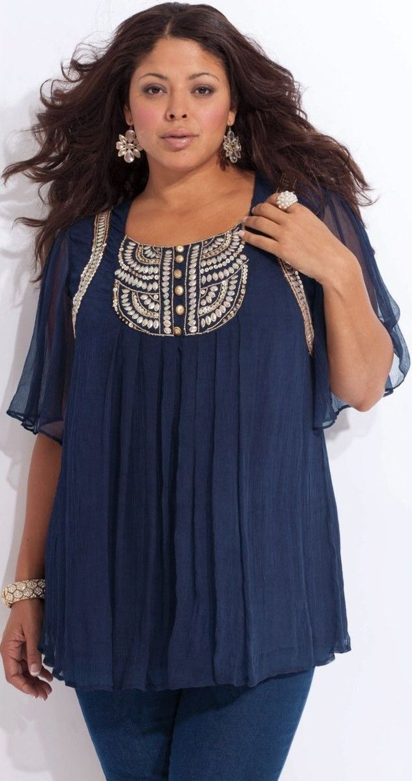 Plus size boho outfit style 38