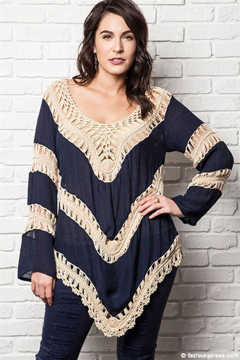 Plus size boho outfit style 53