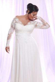 Plus size wedding dresses with sleeves 29