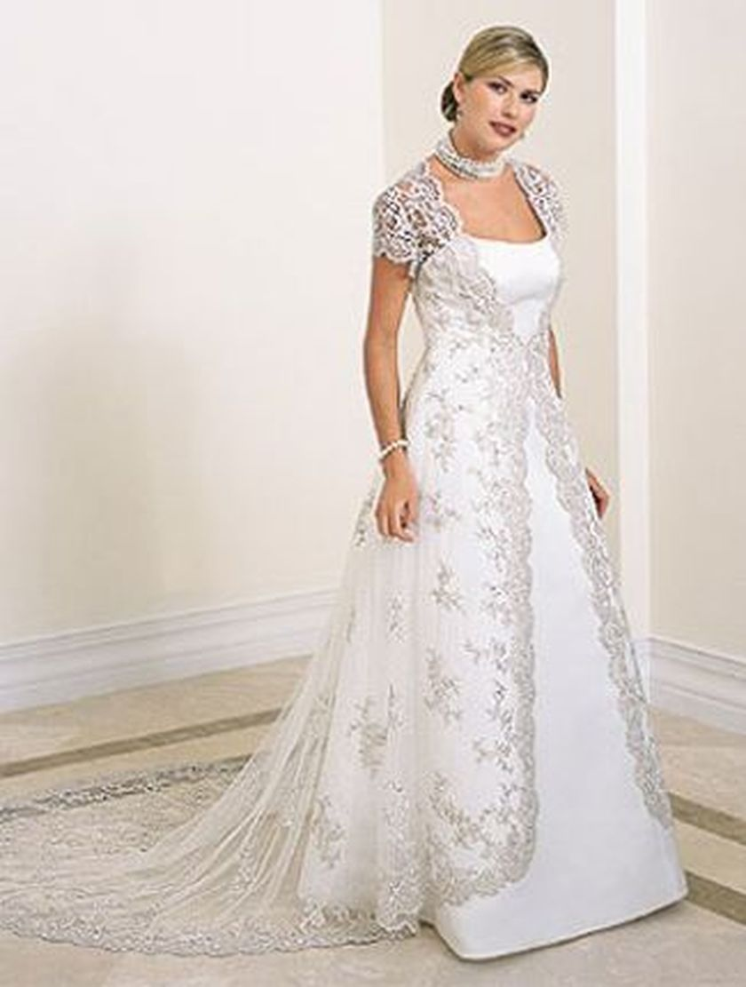 Plus size wedding dresses with sleeves 26