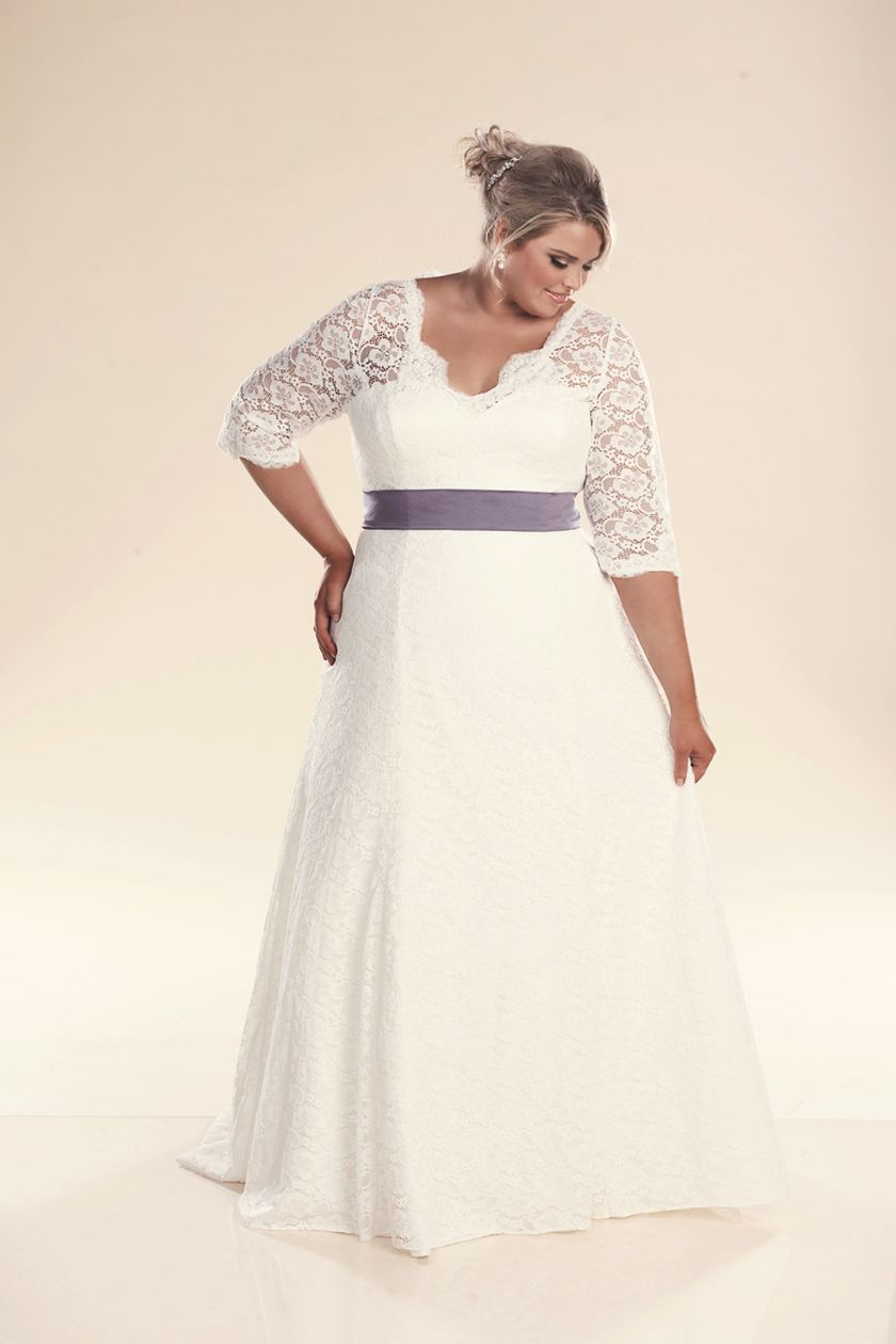 Plus size wedding dresses with sleeves 20