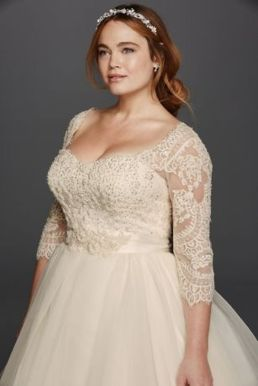 Plus size wedding dresses with sleeves 38