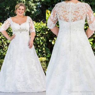 Plus size wedding dresses with sleeves 15