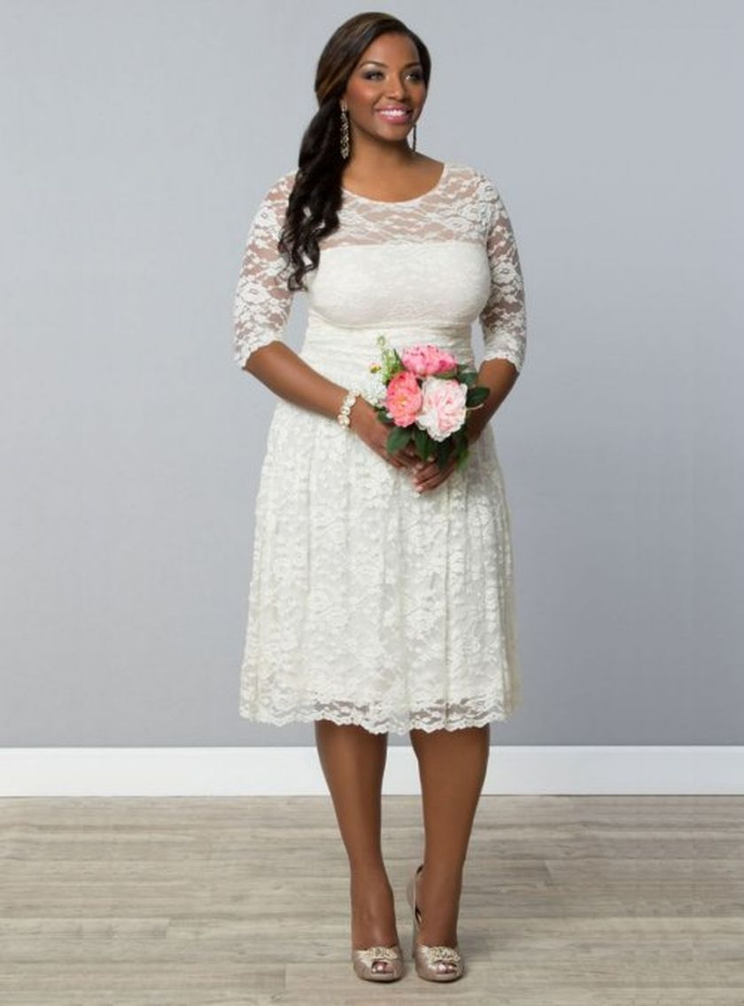 Plus size wedding dresses with sleeves 13