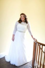 Plus size wedding dresses with sleeves 8