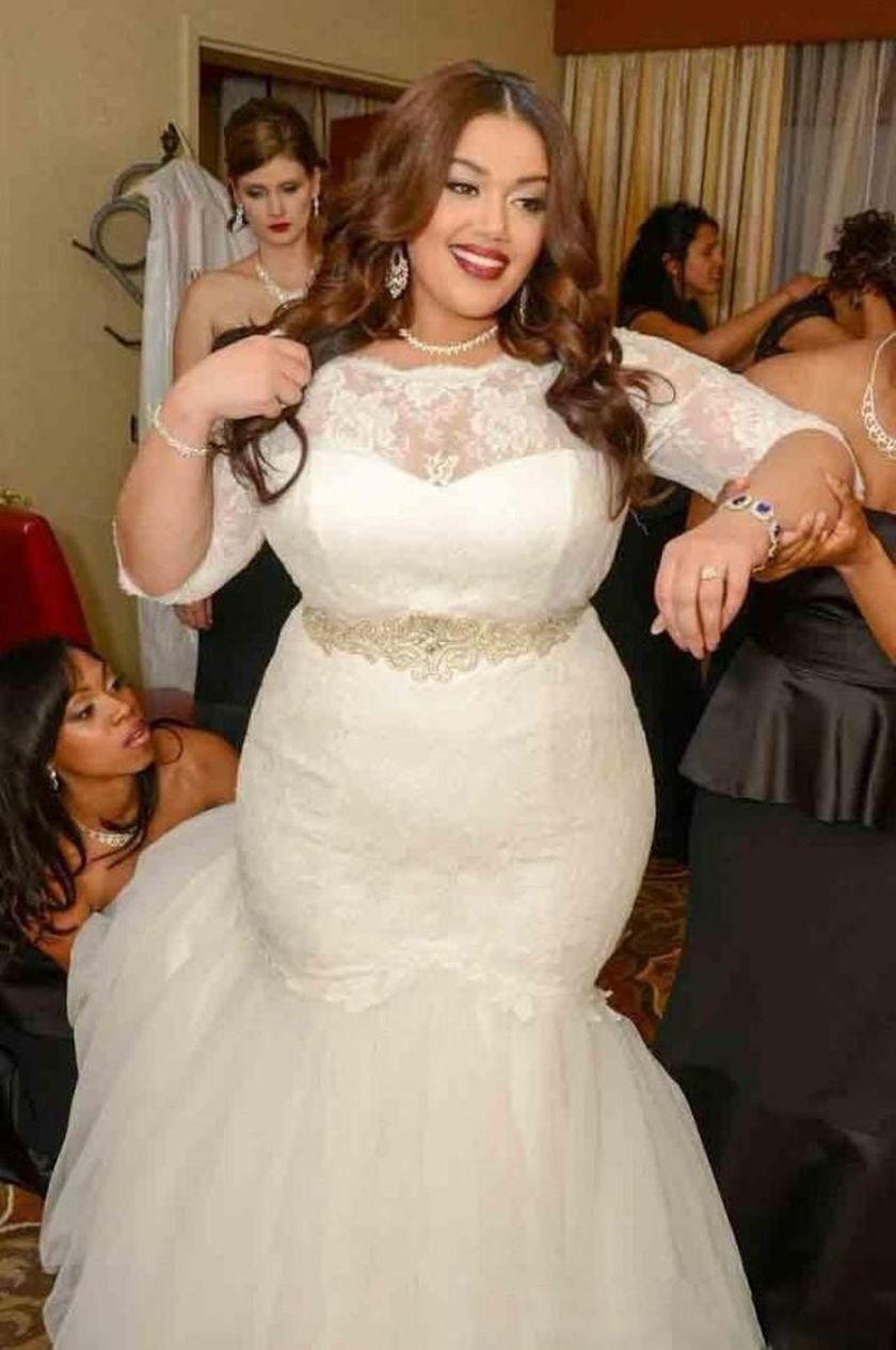 Plus size wedding dresses with sleeves 7