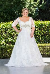 Plus size wedding dresses with sleeves 5