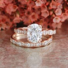 Rose gold solitaire ring for wedding 14