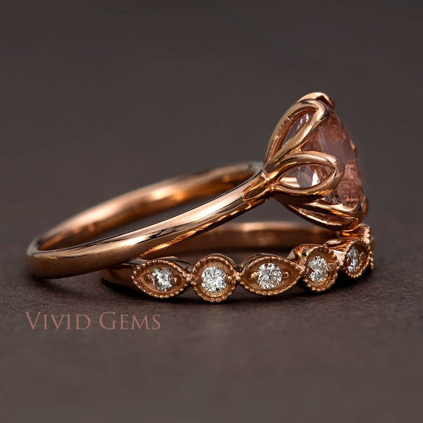 Rose gold solitaire ring for wedding 20
