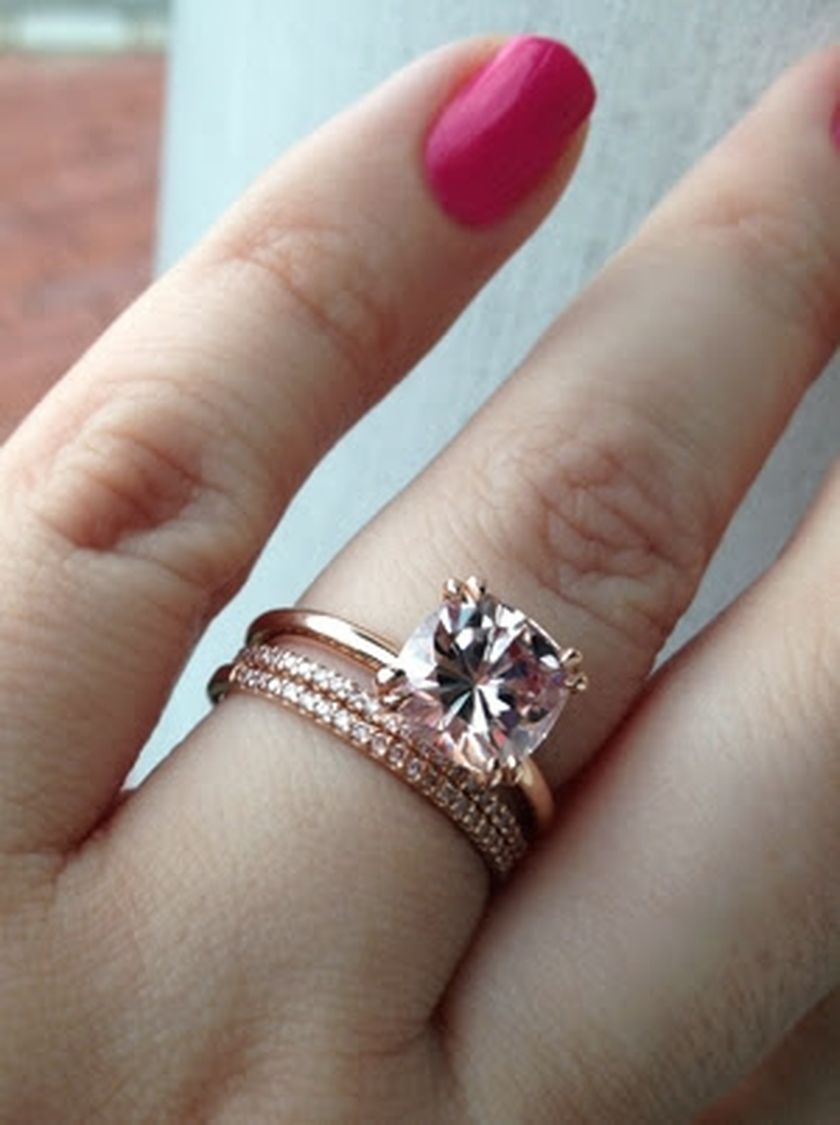 Rose gold solitaire ring for wedding 23