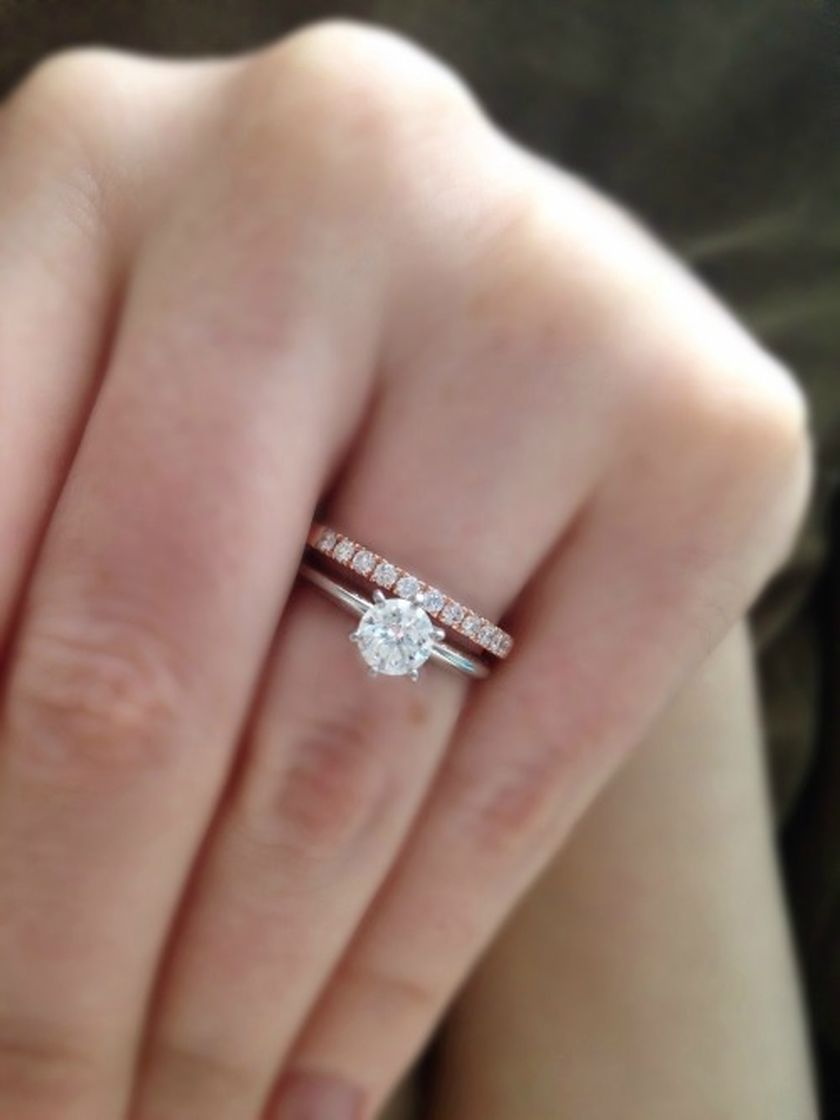 Rose gold solitaire ring for wedding 3