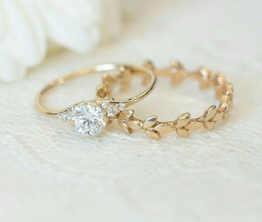 Rose gold solitaire ring for wedding 30