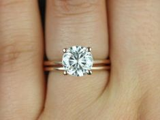 Rose gold solitaire ring for wedding 34