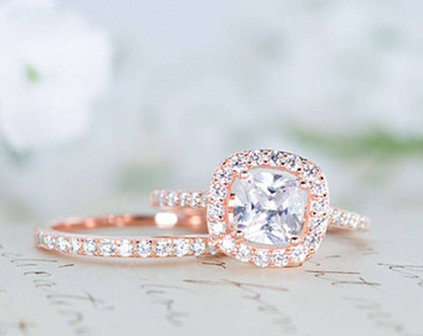 Rose gold solitaire ring for wedding 41