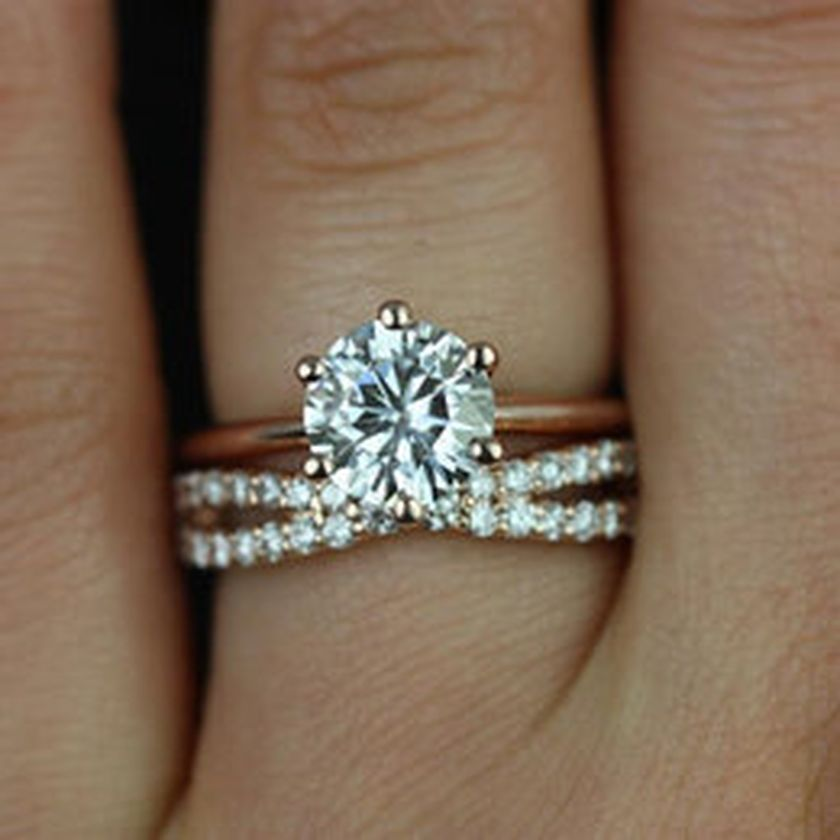 Rose gold solitaire ring for wedding 44