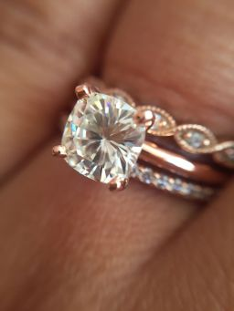 Rose gold solitaire ring for wedding 47