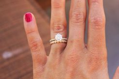 Rose gold solitaire ring for wedding 48