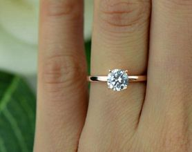 Rose gold solitaire ring for wedding 52