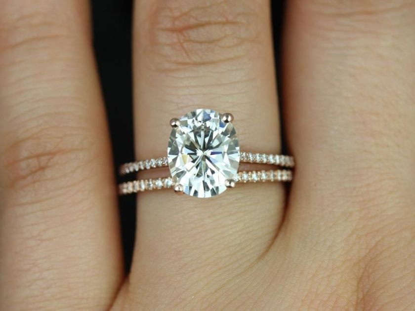 Rose gold solitaire ring for wedding 53