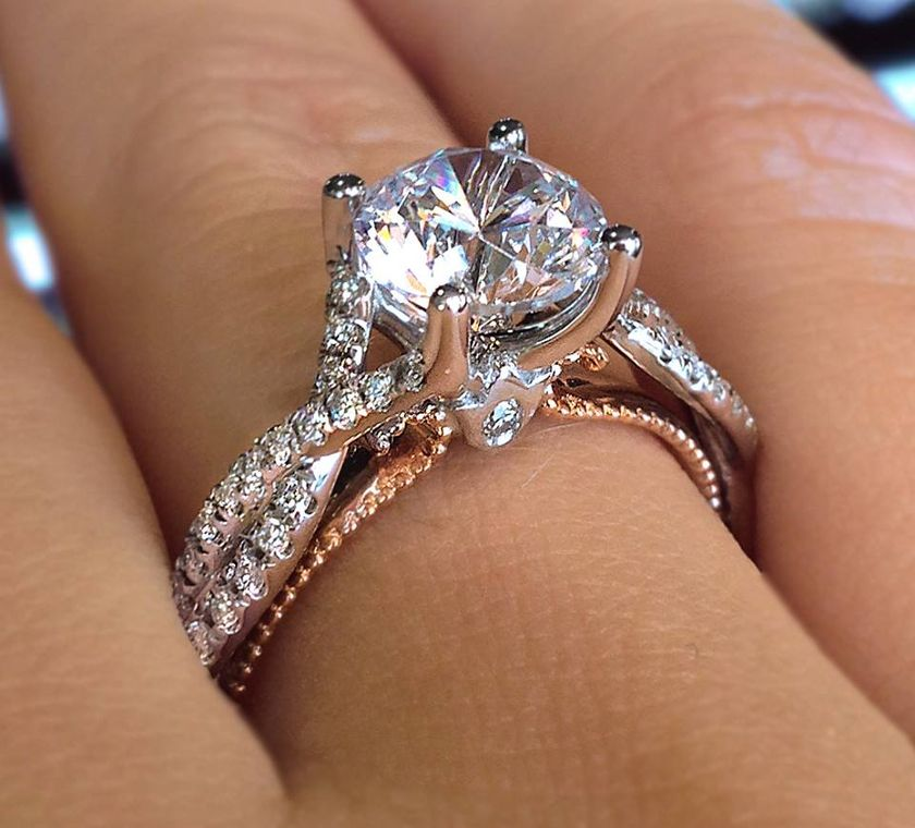 Rose gold solitaire ring for wedding 56