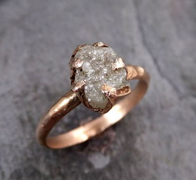 Rose gold solitaire ring for wedding 6
