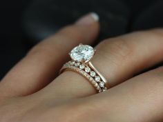 Rose gold solitaire ring for wedding 8