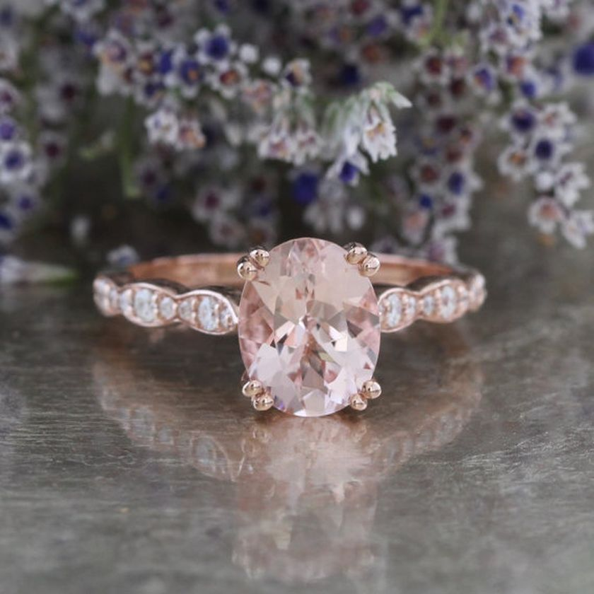 Rose gold solitaire ring for wedding 9