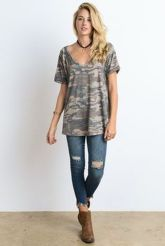 Sexy soft v neck tees women outfit style 18