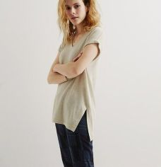 Sexy soft v neck tees women outfit style 26