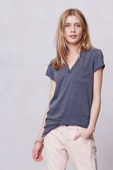 Sexy soft v neck tees women outfit style 29