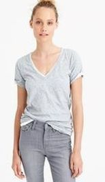 Sexy soft v neck tees women outfit style 6