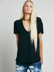 Sexy soft v neck tees women outfit style 66