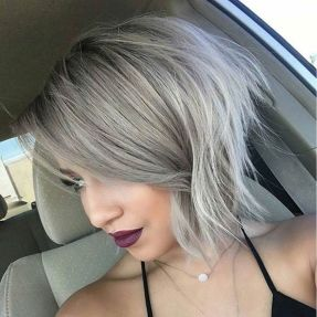 Short asymmetrical bobs hairstyle haircut 30