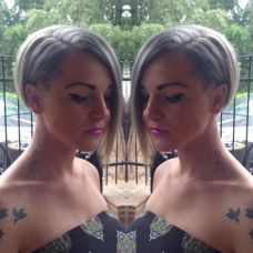Short asymmetrical bobs hairstyle haircut 35