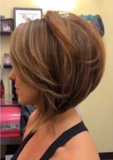 Short asymmetrical bobs hairstyle haircut 55