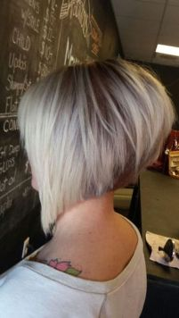 Short asymmetrical bobs hairstyle haircut 62