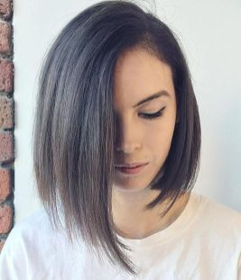 Short asymmetrical bobs hairstyle haircut 68
