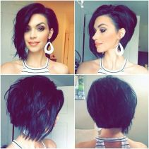 Short asymmetrical bobs hairstyle haircut 71